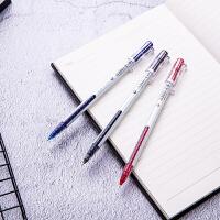 一次性中性笔 大容量巨能写 得力A426直液式中性笔0.5全针管水笔商务办公签字笔学生文具黑笔红笔蓝色