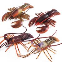 男女孩礼物波士顿龙虾 螃蟹实心仿真海洋生物海底动物玩具模型