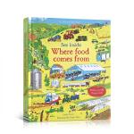 顺丰发货 进口英文原版绘本 See Inside Where Food Comes from 看里面系列:食物从哪里来