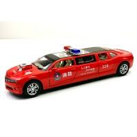 加长版雪佛兰大黄蜂合金车模3岁男孩回力声光6开门仿真玩具车 酒 消防