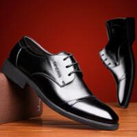 【四季新品】英伦风男皮鞋 时尚潮流牛二层皮鞋男款商务休闲正装皮鞋3665JLF