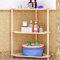 索尔诺卫生间置物架厨房落地浴室收纳架子 桌面客厅层架三角架Z693
