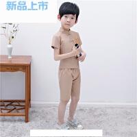 男童儿童棉麻套装男童夏中式礼服男童装短袖唐装宝宝民国风演出服