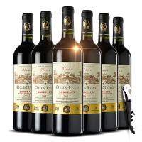 法国酒庄直采原瓶原装进口AOC级艾洛干红葡萄酒6支整箱+海马刀