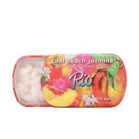 【满100减50促销】Rio无糖水果薄荷糖14g茉莉香桃味百香果味薄荷糖