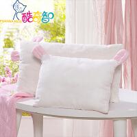 富安娜出品 酷奇智萌趣可爱儿童枕头枕芯 皮马棉双层纱布面料枕芯