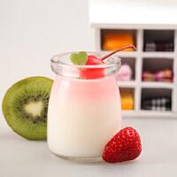 容量100ml150ml200ml布丁瓶慕斯杯酸奶瓶玻璃烘培模具带盖耐高温