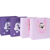广博(GuangBo)4只装中号白卡纸礼品袋礼物袋纸质手提袋QT5892当当自营