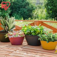 爱丽思IRIS 彩色RISE圆型花盆树脂花盆塑料花盆360/450爱丽丝