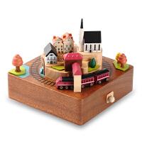 音乐盒木质八音盒男生女生儿童七夕生日创意礼物