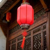 大红灯笼 中式阳台吊灯
