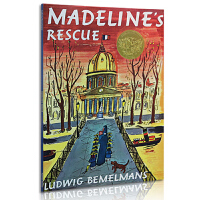 英文原版绘本 美国进口 凯迪克金奖大奖儿童绘本 Madeline's Rescue 玛德琳的救命狗平装 廖彩杏推荐书单