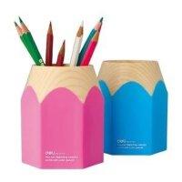 得力 9145精美铅笔头笔筒 可爱卡通创意笔架 笔座