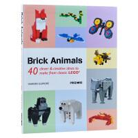 Brick Animals积木动物 乐高积木设计书籍 乐高玩具画册 原版进口