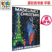 英文原版绘本 美国进口 企鹅兰登 玛德琳的圣诞节 Madeline's Christmas 韵律儿歌 平装 廖彩杏推荐