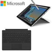 微软(Microsoft)Surface Pro 4 12.3英寸二合一平板笔记本电脑 Intel i5 4G/8G内存 128G/256G硬盘 专业版银色官方标配
