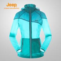 【反季清仓特惠】Jeep/吉普 女士户外轻便舒适透气皮肤风衣外套J656010139