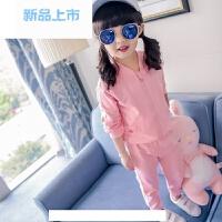 童装女童运动套装春秋装2018新款4儿童春装1-3岁宝宝5洋气6两件套