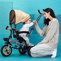 儿童三轮车脚踏车婴儿手推男女宝宝自行车免充气