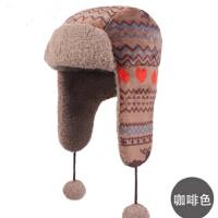 时尚女童宝宝护耳帽男宝宝男童雷锋帽子 儿童冬天 帽子儿童棉帽子 适合6-9岁