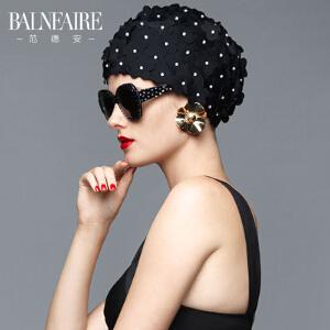【全场包邮】范德安时尚舒适长发手工花瓣护耳泳帽女长短发成人大号布游泳帽子