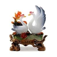 结婚礼物天鹅摆件送人佳品工艺品客厅摆件家居装饰品婚庆新房摆设 纯洁爱情白天鹅