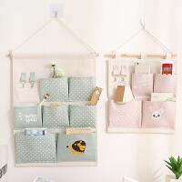收纳挂袋墙上简约收纳袋布艺墙挂式门后置物袋整理袋悬挂储物挂兜
