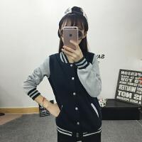 短款外套女春秋韩版棒球服bf风学生宽松夹克外套百搭开衫加绒卫衣