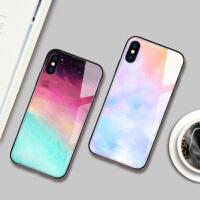苹果8plus手机壳iphone xs max女款6splus玻璃xr套7plus全包xsmax防摔8p新款6s情侣x