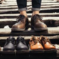 西瑞内增高男鞋工装休闲鞋棉鞋子男士低帮皮鞋秋季英伦大头马丁靴冬季6277