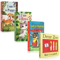 顺丰发货 dear zoo 英文原版 儿童绘本4本套装 I am a bunny 金色童年I AM A PUPPY I