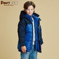 【秒杀价:200】Pawinpaw宝英宝卡通小熊童装冬款男童羽绒服
