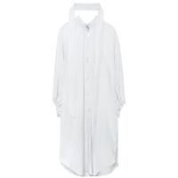 chic早春秋装白衬衫女士韩版长袖宽松百搭防晒上衣外套薄2018新款 图色 均码