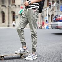 2018潮流新款男士韩版修身小脚裤子春季青年束脚裤学生休闲运动裤