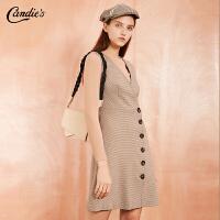 【满300减30】针织衫连衣裙两件套女新款韩版修身长袖毛衫裙子时尚套装