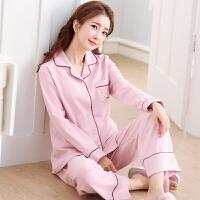 春秋季少女士长袖睡衣女夏纯棉套装薄款韩版可外穿甜美可爱家居服