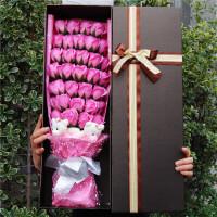 香皂玫瑰花创意礼物七夕礼物送女友闺蜜卡通花束礼盒hua