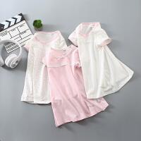 女童连衣裙纯棉宝宝短袖t恤长款童装裙子夏季女孩睡衣儿童睡裙女