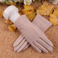 羊毛手套女秋冬羊毛手套女士短款修手保暖开车手套