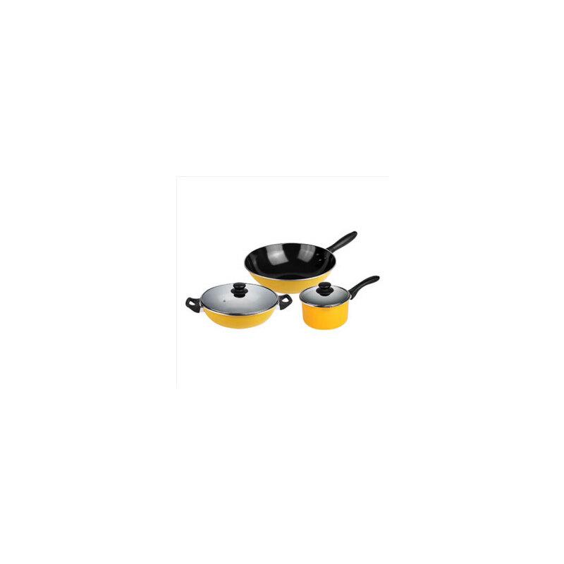 supor苏泊尔套装锅具T1360T温馨之家三件套 炒锅 汤锅 奶锅