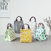 韩国饭盒袋保温袋便当袋手提包带饭的袋手拎袋帆布袋学生拎袋午餐旅游用品