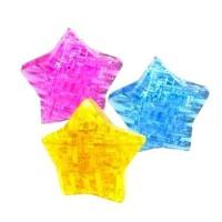 领智3D立体水晶拼图 益智积木 创意礼物 五角星