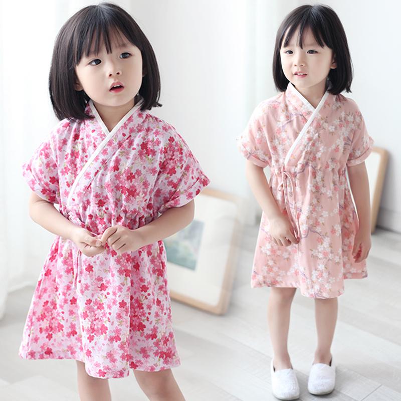 儿童睡衣女夏季短袖家居服纯棉碎花薄款宝宝中国风连衣裙女童汉服 发货周期:一般在付款后2-90天左右发货,具体发货时间请以与客服协商的时间为准