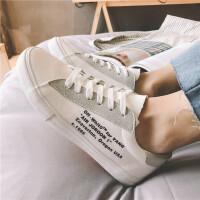2018新款夏季男士板鞋韩版字母印花布鞋百搭青少年低帮休闲鞋子男