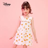 【2件3折:73.5元】迪士尼女童夏装连衣裙2021新款宝宝公主裙儿童裙子时尚洋气*
