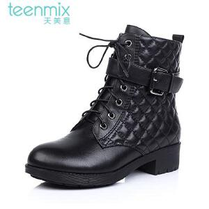 TEENMIX/天美意牛皮女靴507-2DD4