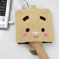 伊品堂USB保暖鼠标垫/暖手鼠标垫加厚卡通保暖暖手宝手套(多色随机)