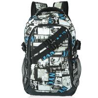 帆布学生书包男士背包韩版大容量中学生书包涂鸦