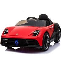 婴儿童电动汽车四轮宝宝玩具带遥控车电瓶充电小男孩1-3岁4-5可坐 烤漆酒红全功能--早教-自驾-摇摆 -皮座+手推杆