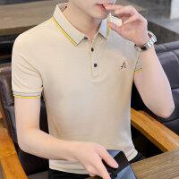 POLO短袖 2021夏季新款男款韩版潮流衬衫领POLO衫短袖 Y713男装96822